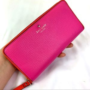Kate Spade Slim Pink Continental Wallet ♠️